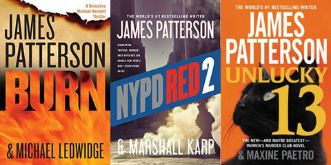 2014 James Patterson Bestsellers for $2.50-$3.75 on Kindle