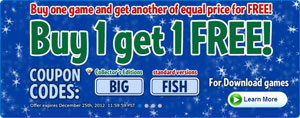 Big Fish Games December 2012 Promotion