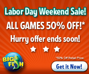 Big Fish Games Labor Day 2012 Sale