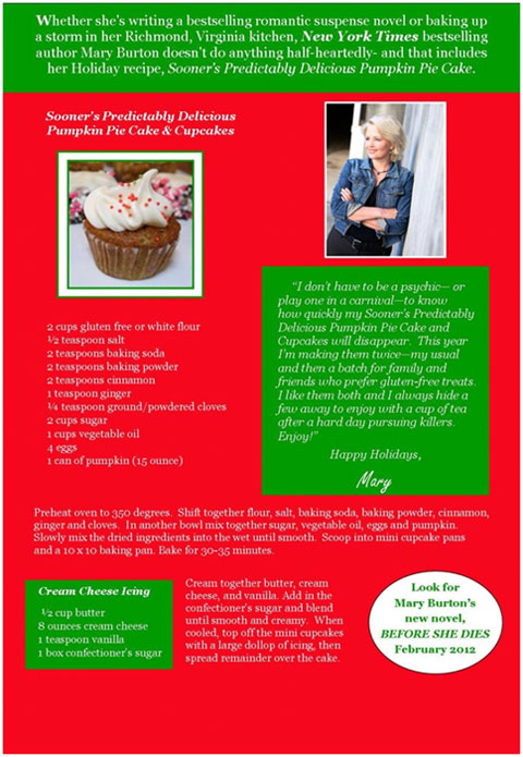 Mary Burton Holiday Recipe