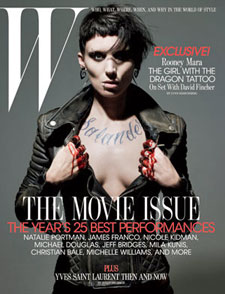 Rooney Mara as Lisbeth Salander (W Magazine)